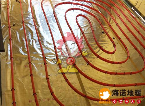 隆成家园海诺地暖盘管施工效果图