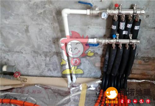 清水园海诺地暖分水器施工效果图