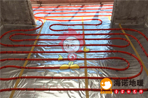 秋瑞家园海诺地暖盘管施工效果图