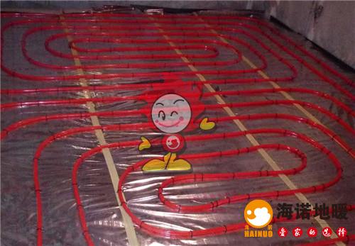 秋星里海诺地暖盘管施工效果图