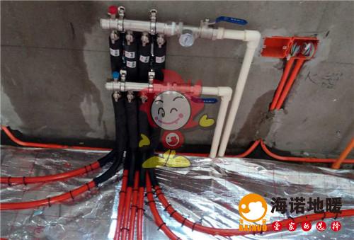 盛华嘉园海诺地暖分水器施工效果图