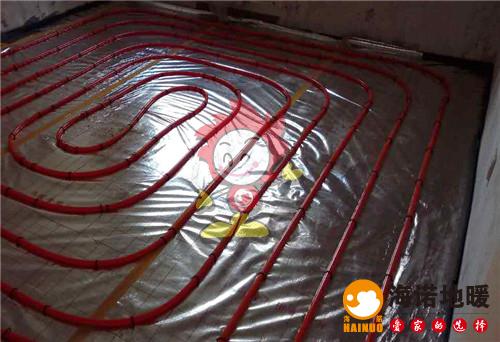 盛华嘉园海诺地暖盘管施工效果图