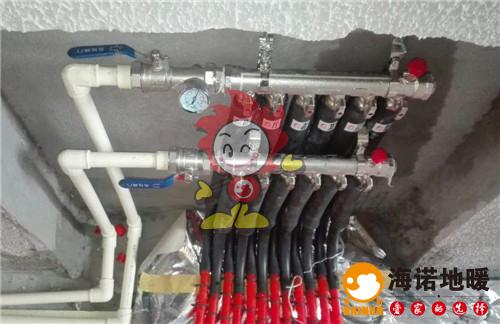水木清华海诺地暖分水器施工效果图