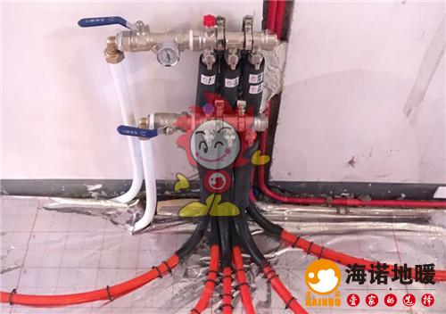 天成轩海诺地暖分水器施工效果图