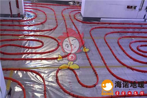 天成轩海诺地暖盘管施工效果图