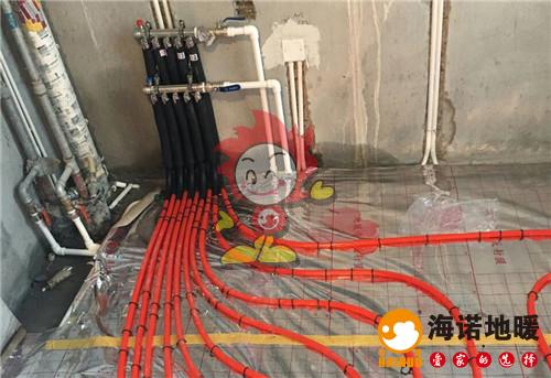 万翠台北苑海诺地暖分水器施工效果图