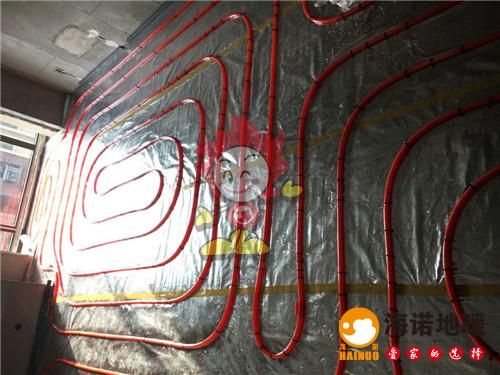 贻成豪庭海诺地暖盘管施工效果图