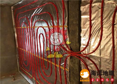 玉水园海诺地暖盘管施工效果图