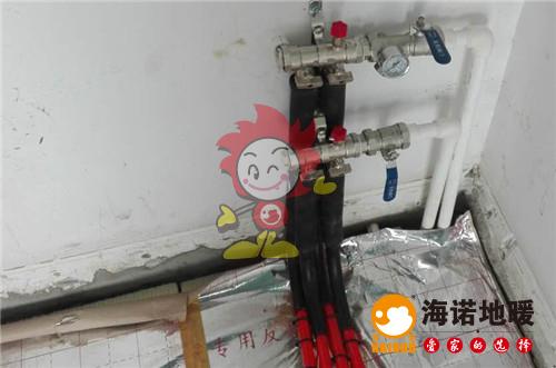 紫荆苑海诺地暖分水器施工效果图