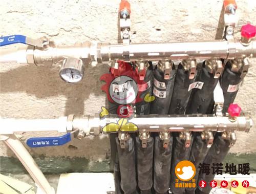 碧华里海诺地暖分水器施工效果图