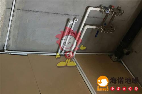 李桃园海诺地暖分水器施工效果图