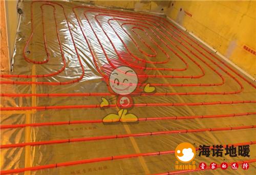 罗兰花园海诺地暖盘管施工效果图