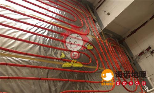 梅江公馆海诺地暖盘管施工效果图