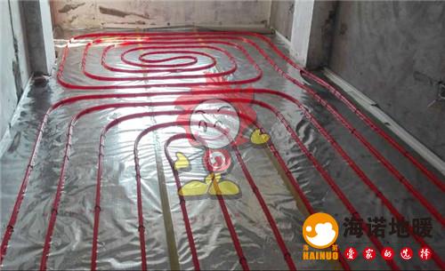 森淼公寓海诺地暖盘管施工效果图