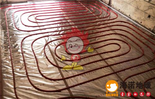 湖语公园海诺地暖盘管施工效果图