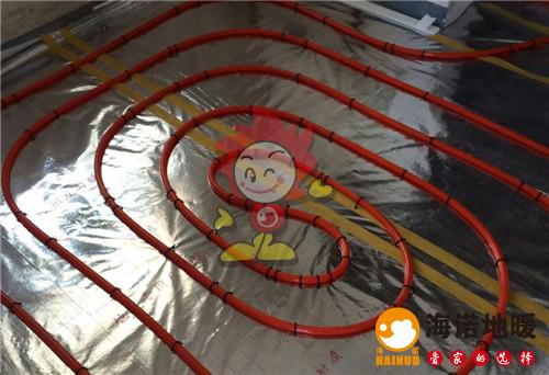 瑞益园海诺地暖盘管施工效果图