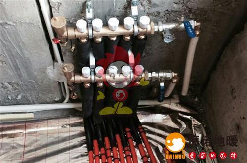盛达园海诺地暖分水器施工效果图