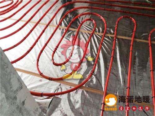 盛达园海诺地暖盘管施工效果图