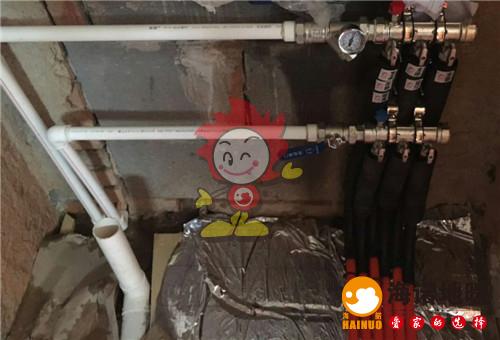 向荣里海诺地暖分水器施工效果图