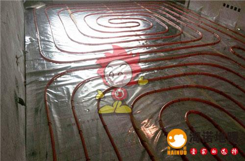 海旋园海诺地暖盘管施工效果图