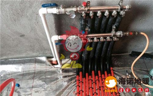海旋园海诺地暖分水器施工效果图