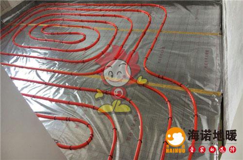 恒益隆庭海诺地暖盘管施工效果图