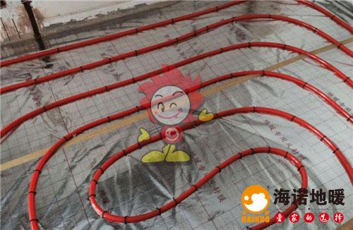 汇和家园海诺地暖盘管施工效果图