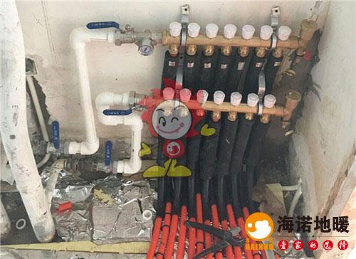 嘉海花园海诺地暖分水器施工效果图