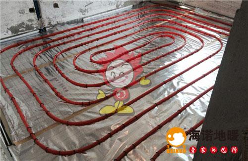 季景家园海诺地暖盘管施工效果图