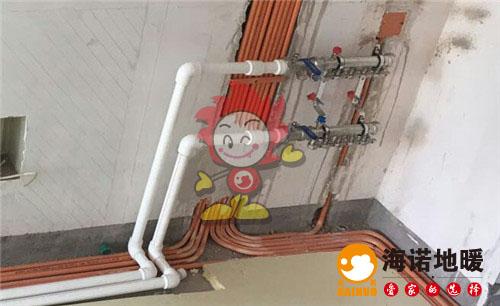 金狮家园海诺地暖分水器施工效果图