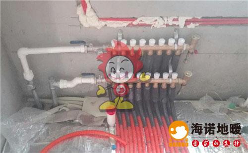 天浦园海诺地暖分水器施工效果图