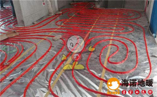 天浦园海诺地暖盘管施工效果图