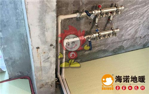 馨苑新城海诺地暖分水器施工效果图