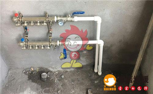 益康园海诺地暖分水器施工效果图