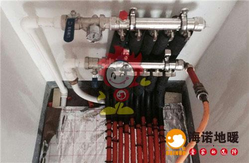 都会轩海诺地暖分水器施工效果图