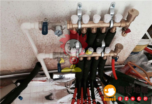 冠华公寓海诺地暖分水器施工效果图