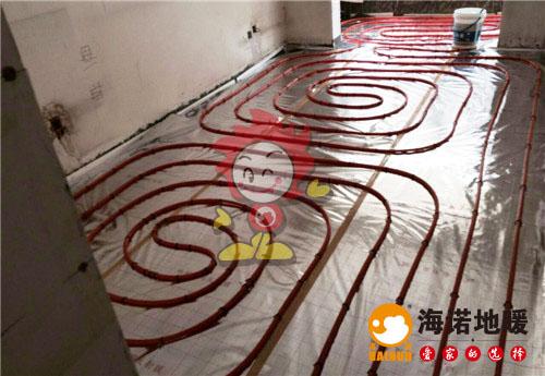 冠华公寓海诺地暖盘管施工效果图