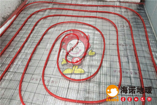 华亭国际海诺地暖盘管施工效果图