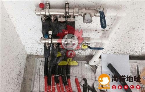 华亭国际海诺地暖分水器施工效果图