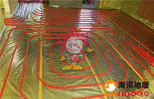 林溪园海诺地暖盘管施工效果图