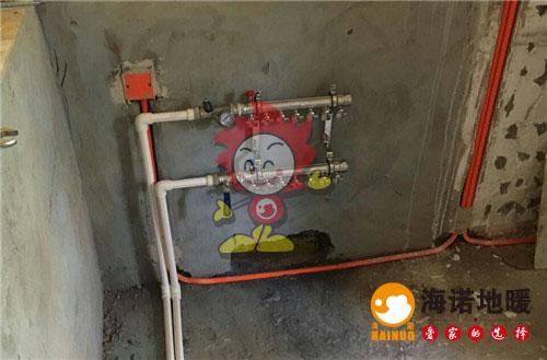 林溪园海诺地暖分水器施工效果图