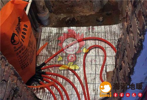 柳安新村海诺地暖分水器施工效果图