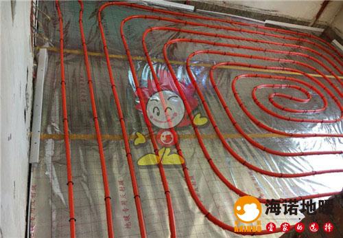 柳安新村海诺地暖盘管施工效果图