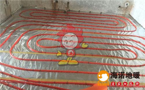 旭水蓝轩海诺地暖盘管施工效果图