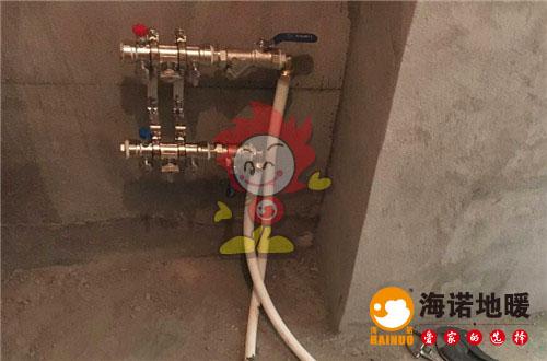 宝喜家园海诺地暖分水器施工效果图