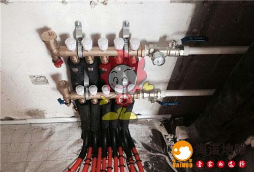 金海湾花园海诺地暖分水器施工效果图