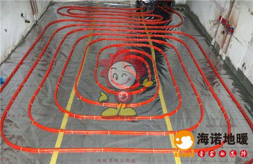 清化里海诺地暖盘管施工效果图