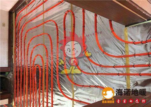香港花园海诺地暖盘管施工效果图