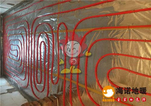 玉泉北里海诺地暖盘管施工效果图