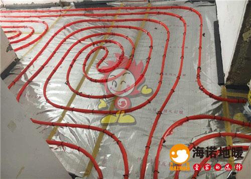 荷园里海诺地暖盘管施工效果图
